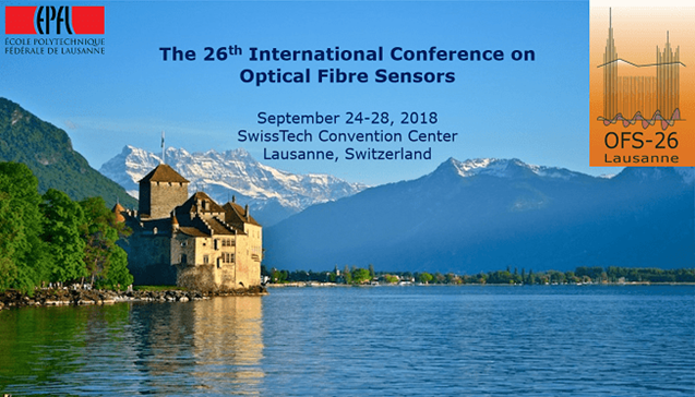 光ファイバセンサ国際会議 (The 26th International Conference on Optical Fiber Sensors (OFS-26)) が開催されます (9月24日(月) - 28(金))