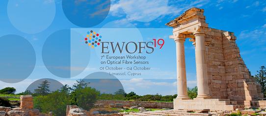 7th European Workshop on Optical Fibre Sensors (EWOFS 2019) がキプロス工科大学で開催されます(10月1日(火) - 4(金))。